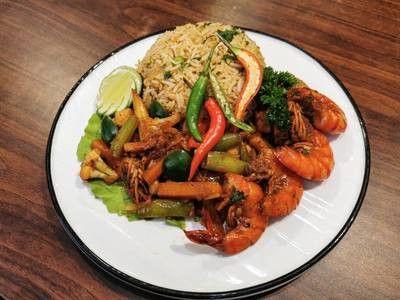Nasi Goreng Paprik Seafood