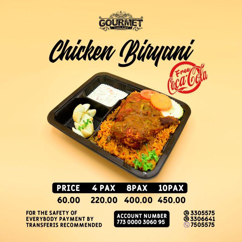 Your Faviorite Briyiani (Chicken/Beef/Fish)