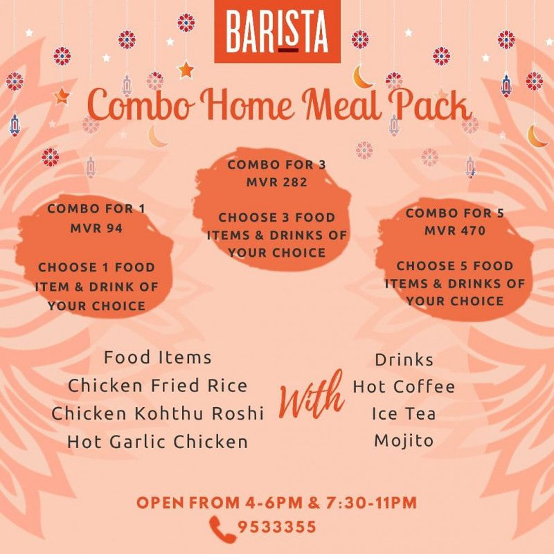 Combo Meal Pack for 3