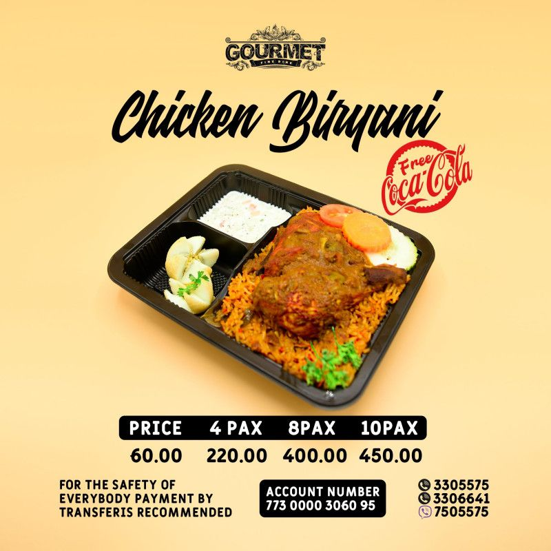 Your Faviorite Briyiani (Chicken/Beef/Fish) (4PAX)