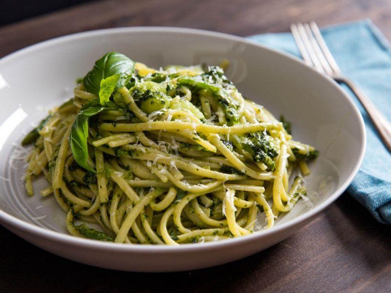 Prawns Spaghetti Pesto