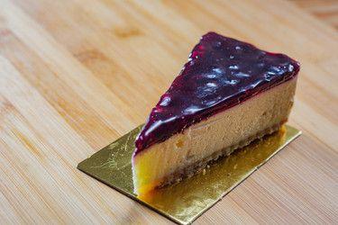 Blueberry Cheese Cake Slice