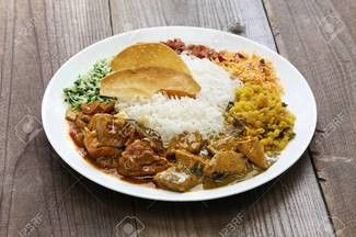 White Rice with curry (chicken)