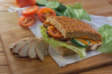 Chicken bun sandwich