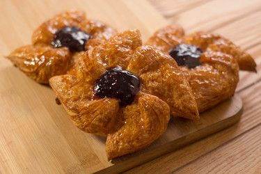 Star Pastry With Blueberry Fil