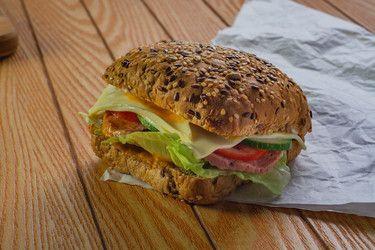 Beef salami sandwich White